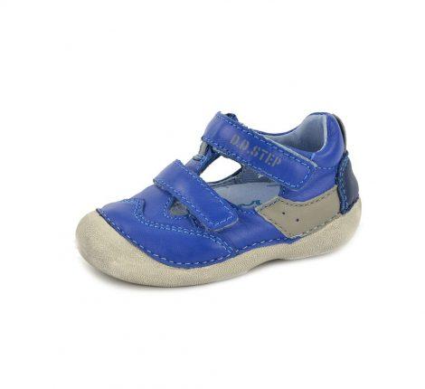 D.D. Step kisfiú bőr szandálcipő - kék, szürke - 19-22,  015-123b