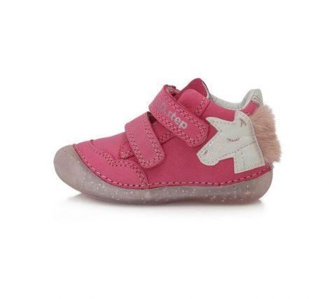 D.D. Step kislány zárt cipő , pink, unikornisos, 20-24(015-303b) POSTA AZ ÁRBAN!!