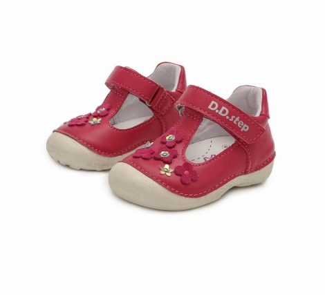 D.D. Step kislány szandálcipő, dark pink, 19-23 (015-467B) POSTA AZ ÁRBAN