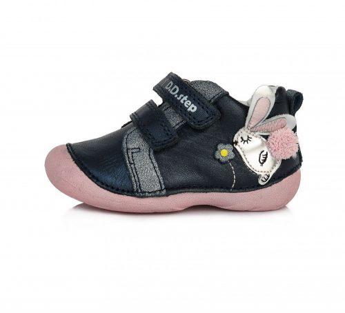 D.D. Step kislány zárt cipő TEX-es, farmerkék színű, cuki nyuszival! 19-24! (015-511B) POSTA AZ ÁRBAN!