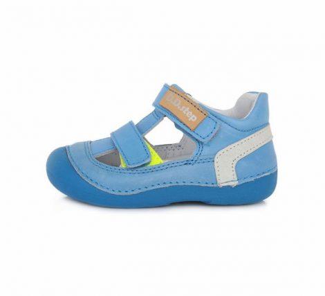 D.D. Step kisfiú világoskék  bőr szandálcipő , 21,22 (015-620B) POSTA AZ ÁRBAN
