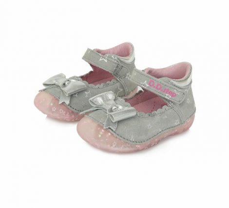 D.D. Step kislány szandálcipő, szürke masnis 19-24 (015-641b) POSTA AZ ÁRBAN