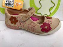 D.D. Step nagylány szandálcipő, nyitott cipő - krém, rózsaszín virágos - 33-36 - AKCIÓS