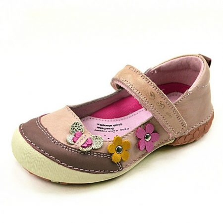 D.D. Step nagylány szandálcipő/balerina halvány rszín 2 virág,1 pillangó 36-os (026-45bl)