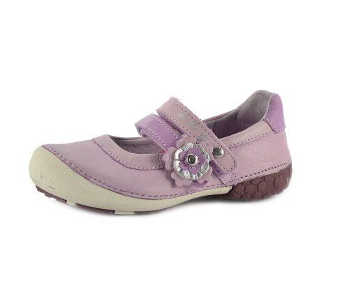 D.D. Step nagylány tavaszi/nyári bőr szandálcipő/balerina, rózsaszín - 31,35,36 - AKCIÓS (026-46bl)
