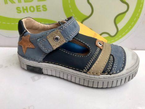 D.D. Step nagyfiú vagány szandálcipő kék, csillaggal - 31-34 - AKCIÓS (033-7A)