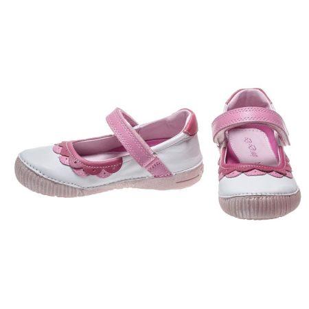 D.D. Step nagylány tavaszi/nyári bőr szandálcipő/balerina, fehér - 35-36 - AKCIÓS (036-38b)