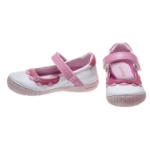 D.D. Step nagylány tavaszi/nyári bőr szandálcipő/balerina, fehér - 35,36 - AKCIÓS (036-38b)