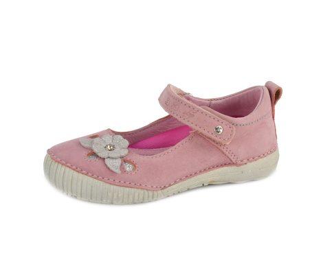 D.D. Step nagylány szandálcipő  rózsaszín, ezüst virágos  33,35,36 - (036-55a ) - AKCIÓS