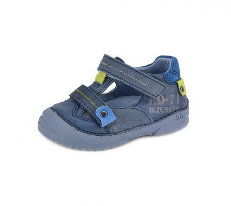 D.D. Step kisfiú bőr szandálcipő - kék, zöld - 20-as - 038-228b