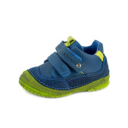D.D. Step kisfiú zárt cipő, vagány, kék,zöld talppal - 19,20, (038-247b) AKCIÓS