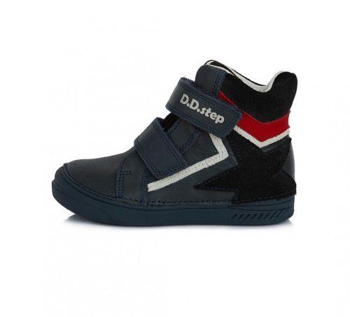 D.D. Step nagyfiú TEX-es sötétkék magas szárú cipő,31-35 (040-343L) POSTA AZ ÁRBAN!