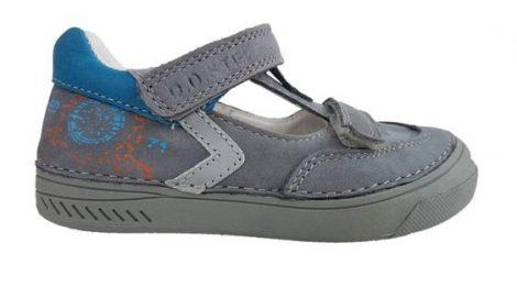 D.D. Step nagyfiú tavaszi/nyári bőr szandálcipő szürke,31-36 (040-412bl) AKCIÓS