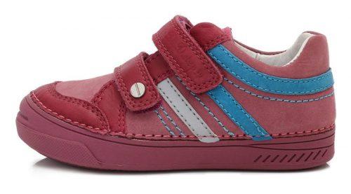 D.D. Step lány átmeneti  bőrcipő, rózsaszín, 25,26,29,30 (040-421c) AKCIÓS!!