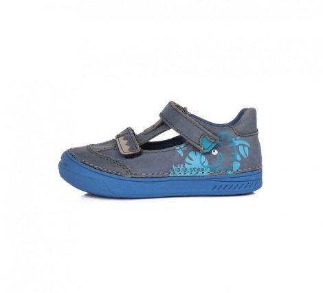 D.D. Step fiú tavaszi/nyári bőr szandálcipő kék, dínóval díszítve - 29,30 (040-436) - AKCIÓS