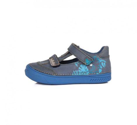 D.D. Step fiú tavaszi/nyári bőr szandálcipő kék, dínóval díszítve - 30-as (040-436) - AKCIÓS