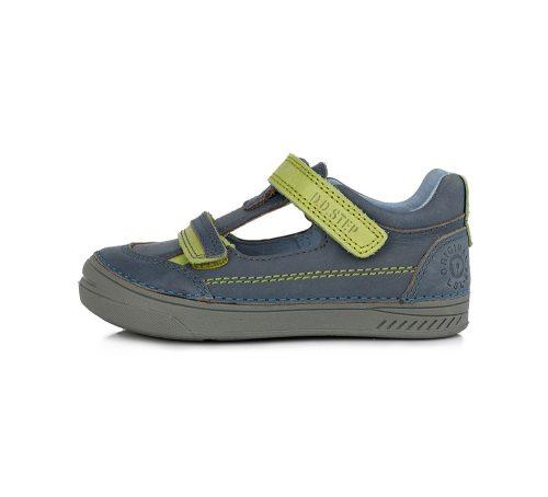 D.D. Step nagyfiú tavaszi/nyári bőr szandálcipő, kékes, uv zöld 32-35 (040-437b) - AKCIÓS