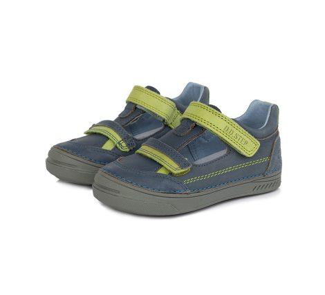 D.D. Step fiú tavaszi/nyári bőr szandálcipő kék,zöld  - 25-30 (040-437b) - AKCIÓS