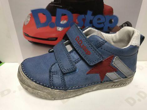 D.D. Step fiú átmeneti világoskék sportos bőrcipő, 28,29,30 (040-448b)