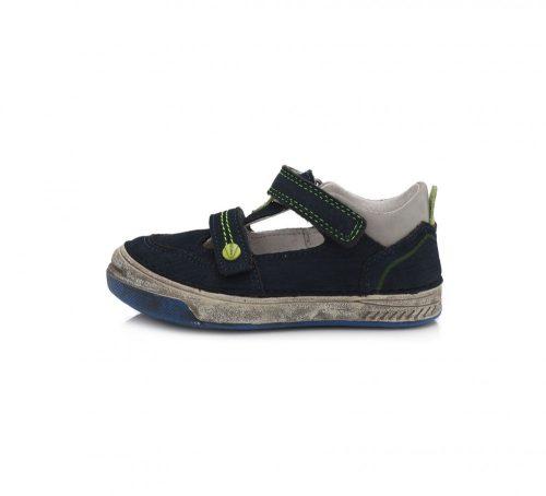 D.D. Step nagyfiú tavaszi/nyári bőr szandálcipő, sportos kék, fehér 31-36 (040-603A)