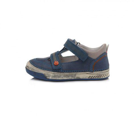 D.D. Step fiú tavaszi/nyári bőr szandálcipő kék  - 25,28-30 (040-603b)
