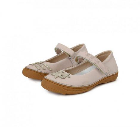 D.D. Step nagylány tavaszi/nyári bőr szandálcipő/balerina, krém színű - 31-36 - AKCIÓS (046-3l)
