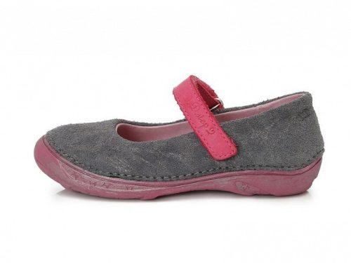 D.D. Step nagylány szürke-pink szandálcipő/balerina - 31-36 (046-602) - AKCIÓS