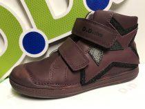 D.D. Step nagylány TEX-es magas szárú bőrcipő, bordó,31-36(049-905L)