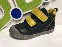 D.D. Step nagyfiú TEX-es FEKETE magas szárú bőrcipő 31-36 (049.907BL)