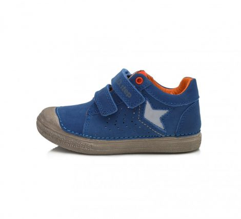 D.D. Step fiú átmeneti kék sportos bőrcipő, 28-30 (049-916a)