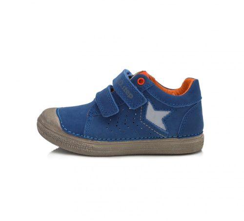 D.D. Step fiú átmeneti kék sportos bőrcipő, 28,30 (049-916a)  AKCIÓS