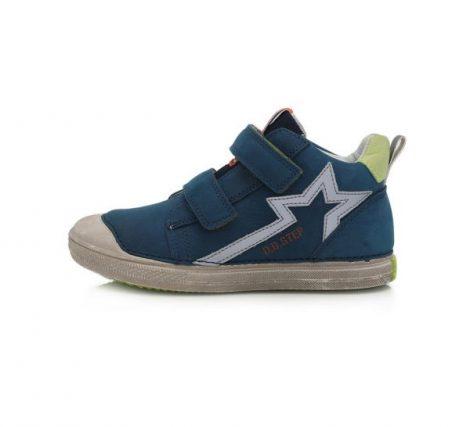 D.D. Step nagyfiú TEX-es kék/zöld magas szárú bőrcipő, 31-36 (049-936L) AKCIÓS!!