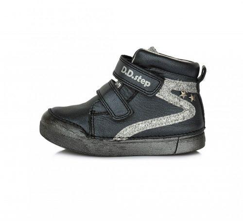 D.D. Step nagylány vagány, TEX-ES BLACK átmeneti bőrcipő 31-36 (068-174L) - POSTA AZ ÁRBAN