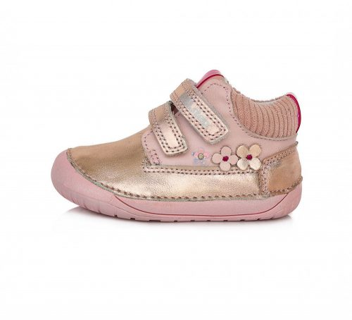 D.D. Step kislány zárt cipő TEX-es, BAREFOOT csillogó bőrcipő! 20-25! (070-520c) POSTA AZ ÁRBAB!