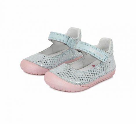 D.D. Step kislány szandálcipő,BAREFOOT, kék,csillagos, 20-25 (070-980) POSTA AZ ÁRBAN
