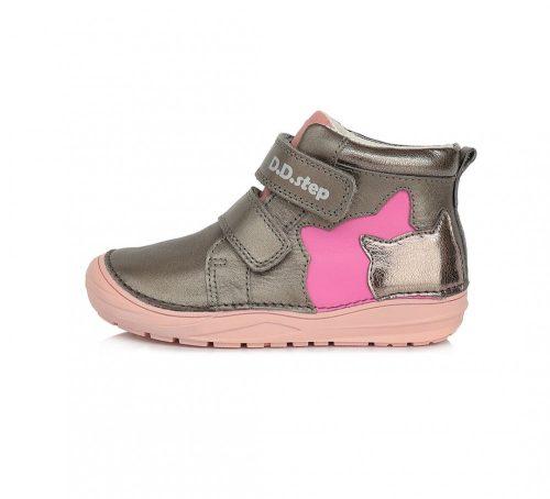 D.D. Step kislány zárt cipő TEX-es, cicás bőrcipő! 21-25! (071-148a) POSTA AZ ÁRBAN!