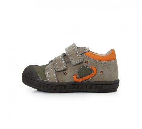 PONTE20 szupinált fiú bőrcipő, szürke,keki,narancs 22-es - AKCIÓS (DA03-1-100A)