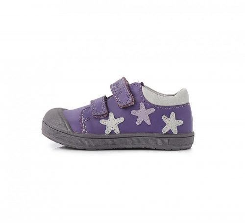 PONTE20 szupinált bőr lány csillagos lila zárt cipő, 22-ES AKCIÓS (DA03-1-102)