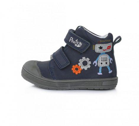 PONTE20 szupinált fiú átmeneti TEX-es bőrcipő,sötétkék,robotos!  22-27 (DA03-1-414A) - ÚJ MODELL! AKCIÓS!!