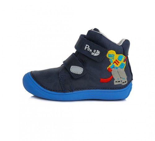 PONTE20 szupinált fiú átmeneti TEX-es bőrcipő,sötétkék,hokis! 33,34,35 (DA03-1-467L) - POSTA AZ ÁRBAN!