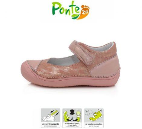 Ponte20 lány szupinált bőr szandálcipő, pasztelrózsaszín, 30-33 (DA03-1-866AL) AKCIÓS