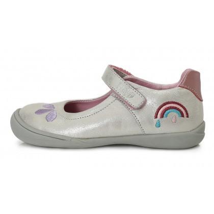 Ponte20 lány szupinált bőr szandálcipő, fehér, csillogós, szivárványos, 28-33 (DA06-1-622A) AKCIÓS