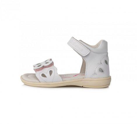 D.D. Step lány nyári csinos bőrszandál fehér, 26-OS (k03-3008) - AKCIÓS